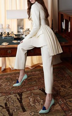 Structured Wool Tuxedo Pants by ADAM LIPPES for Preorder on Moda Operandi