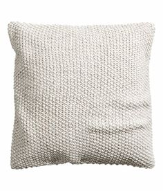 Chunky Knitted Cushion Wool Bland Moss Knit Decorative Pillow Cover Gray 20x20 Cotton Back (Light Gray) Cushion Cover http://www.amazon.com/dp/B00S01NX3W/ref=cm_sw_r_pi_dp_J0fZub108WYDW