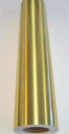 "Metallic Brushed Gold Plotter Sign Vinyl 24"" x 6 ft"
