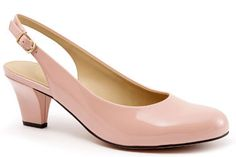 Complete any work look in the Trotteres Pella slingback pump in blush patent!