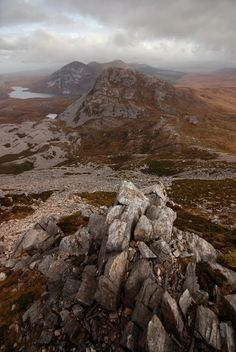View from mount Errigal, County Donegal, #Ireland #Eire Gweedore Travel Planner