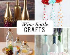 Diy Bottle, Wine Bottle Crafts, Bottle Art, Wine Bottles, Glass Bottle, Plastic Bottles, Wine Glass, Crafts To Sell, Fun Crafts