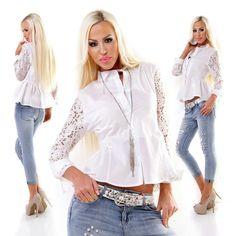 Weiße Tunka Bluse Baumwolle Perlen Bestickt Gr 38 So Süss Dinge FüR Die Menschen Bequem Machen Kleidung & Accessoires Blusen, Tops & Shirts
