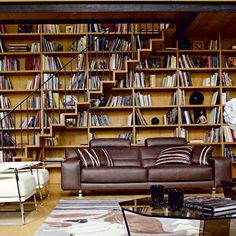 how to give bookshelves a dual function