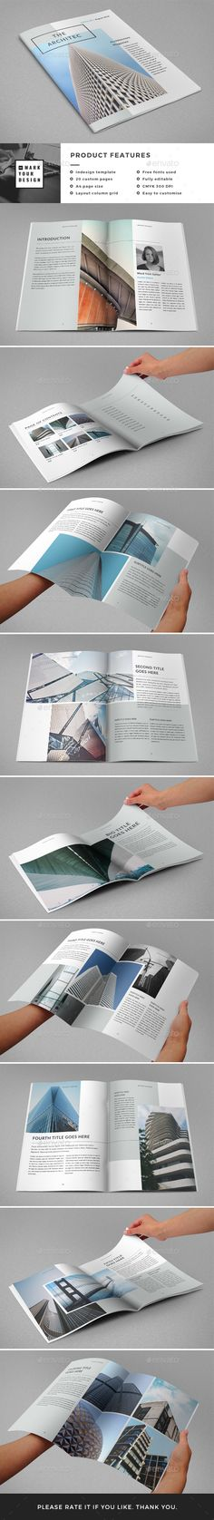 Architecture Magazine / Catalog Template InDesign INDD. Download here: https://graphicriver.net/item/architecture-magazine-catalog/17506135?ref=ksioks