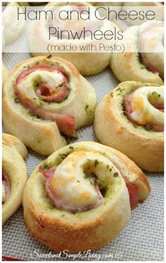 Ham and Cheese Pinwheels Recipe made from canned dough!  SIMPLE!!!!  I love easy recipes!!!
