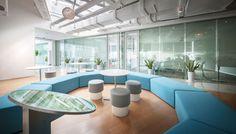 Nuskin Great China Innovation Park #largeoffice #commercialspaces #commercialinteriors #design #flooring