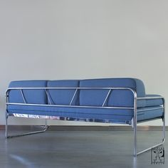 Tubular steel couch/daybed in Bauhaus design - Image 4
