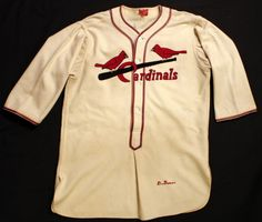 From the Cardinals Museum collection, #17 Dizzy Dean's 1936 game worn jersey.