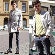 Get this look: http://lb.nu/look/7348068  More looks by Matthias Cornilleau: http://lb.nu/stylnoxe  Items in this look:  Promod Trench Coat, Asos Skinny Jeans, Bhv Marais Striped Tshirt, The Frye Company Oxford Shoes, Hermes Bacelet   #casual #elegant #preppy