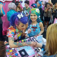 Demonpuff and Shrinkle helping you get fancy at IMATS!