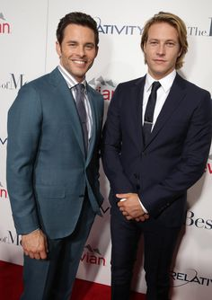 James Marsden and Luke Bracey - the two Dawsons - strike a pose at #TheBestofMe premiere!  Photo: Eric Charbonneau
