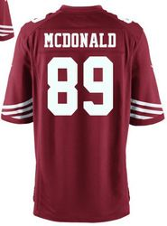 78.00--Vance McDonald Jersey - Elite Red Home Nike Stitched San Francisco  49ers  89 Jersey 6742f29ec