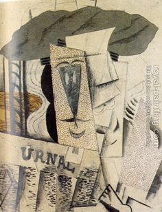 Pablo Picasso - student with a newspaper