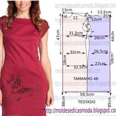 I have a dress pattern like this that could be modified to look like this Dress Sewing Patterns, Sewing Patterns Free, Clothing Patterns, Pattern Dress, Free Pattern, Diy Clothing, Sewing Clothes, Costura Fashion, Striped Fabrics