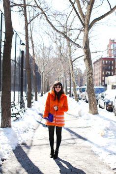 Orange & Royal Blue -- New York Fashion week