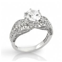 Becca's See Through Vintage Style CZ Engagement Ring $60