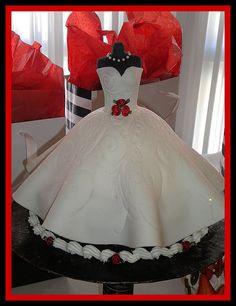 Wedding Dress Bridal Shower Cake by tinkabellz17, via Flickr
