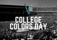 Do you know what today is? It's #CollegeColorsDay!  Wear your favorite college team or school's colors to show your support! Which colors will you be wearing today? #VisionIntegration #CollegeColors #CollegeFootball #SchoolTeam #SchoolSpirit