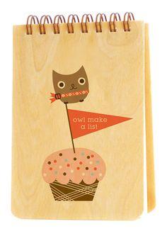 Owl Make a List • Jotter
