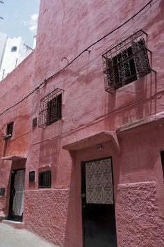 A pink corner, Medina, Tangier