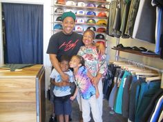 Surprise visit to Nana June 2012 - went to vist Uncle Jermaine at the store.