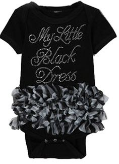 8015b3a8602195 Little Black Dress Ruffled Creeper Onesie Dress