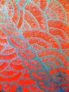 Galerie Art d'Australie - Stéphane Jacob I love the delicate organic shell feeling print design that ombres and again love the orange and blue. Aboriginal Painting, Aboriginal Artists, Dot Painting, Encaustic Painting, Painting Inspiration, Art Inspo, Motif Art Deco, Arte Popular, Australian Art