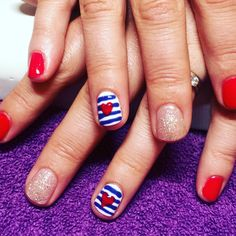 Nautical nails with OPI Gelcolor