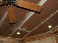 Rustic Corrugated Metal Ceiling   Ceiling: Rusted Tin, Antique, Corrugated @ ...   Basement Rustic Room