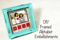How to make framed letter embellishments with Mod Melts. great for scrapbooking, card making and home decorating.