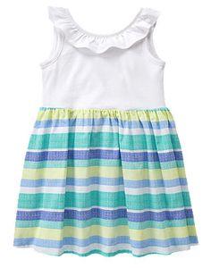 66da8e04656 Toddler Girls Tidal Blue Stripe Multi-Striped Dress by Gymboree Toddler  Girl Romper