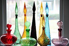 Mixed colour genie bottles
