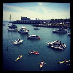 McCovey Cove filling upon #SFGiants #SFGOpeningDay