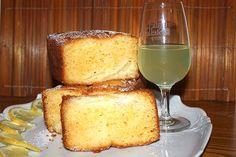 Plum cake al limone e pesche tabacchiere