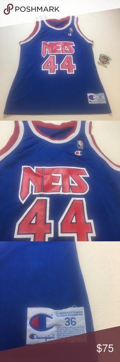 3326f305bdd2 Vintage New Jersey Nets Coleman Champion 🏀 Jersey Vintage Mens Small Size  36 Blue New Jersey