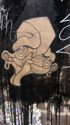 burg | street art | graffiti | artist | paste up | all those shapes