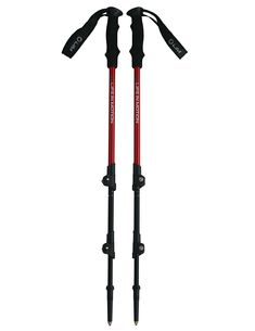 Pair of Life In Motion Adventurer Collapsible Aluminum Trekking Poles / Hiking Poles with Flip Locks and EVA Grip ** Check out this great product.