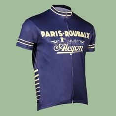 Buy Retro Cycling Jersey - Paris Roubaix by Retro Image Apparel - Mens -  Blue 6e171621d
