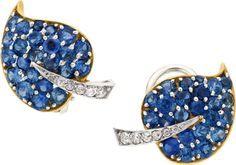 Joyería del estado: Pendientes, Zafiro, Diamante, Platino, Oro, Pendientes de Van Cleef & Arpels ....  Imagen # 1