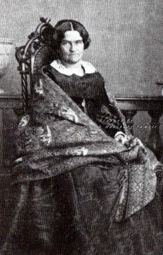 Ludovika in Bayern, mother of Kaiserin Elisabeth of Austria. 1860s.