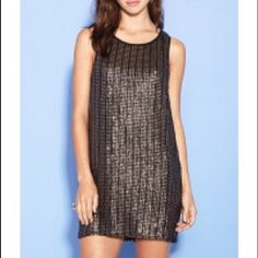 Sequined Shift Dress This is a beautiful dress worn once and got TONS of compliments! It looks so expensive but isn't! Perfect condition. Great for NYE coming up! Can wear all year round! Offers welcome  Forever 21 Dresses