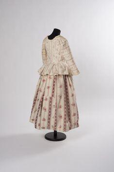 SCHOSSJACKE UND ROCK um 1780-1790 Baumwolle bedruckt Online Collections, Victorian, Rock, Dresses, Fashion, Floral Patterns, Cotton, Gowns, Vestidos