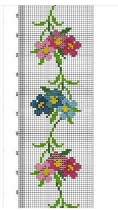 Cross Stitch Bookmarks, Cross Stitch Borders, Cross Stitch Rose, Cross Stitch Charts, Cross Stitch Patterns, Dot Patterns, Swedish Embroidery, Hardanger Embroidery, Hand Embroidery