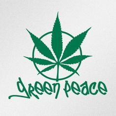 Green Peace Marihuana Cannabis Leaf Car Body Window Bumper Vinyl Decal Sticker #Oracal