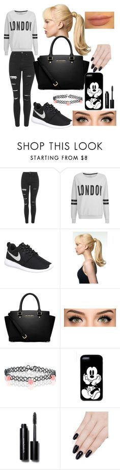 """""""My style 1"""" by beyzaalp ❤ liked on Polyvore featuring Topshop, ONLY, NIKE, Toni&Guy, MICHAEL Michael Kors, Accessorize, Bobbi Brown Cosmetics and ncLA"""
