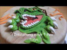 JURASSIC PARK CAKE TUTORIAL FONDANT SUGAR PASTE - TORTA DINOSAURO IN PASTA DI ZUCCHERO - YouTube