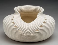 concepts, forms, materials, techniques, and processes related to basketry Sisal, Rope Basket, Basket Weaving, Coil Pots, Pine Needle Baskets, Jute Crafts, Fabric Bowls, Rope Art, Fabric Scraps