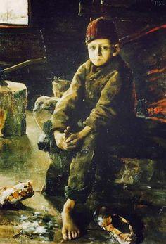 Akseli Gallen-Kallela (26 aprilie 1865 - 7 martie 1931), pictor şi grafician finlandez - Tiggargosse