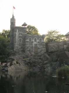 Belvedere Castle in Central Park, built in 1869 (adjacent to the 79th Street Transverse Road) on the Turtle Pond